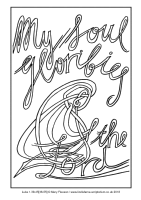 22 - Fourth Sunday Advent - Luke 1.39-45[46-55] - Downloadable / Printable Colouring Sheet